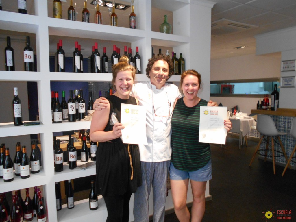 Gabby and Maggie with Chef!