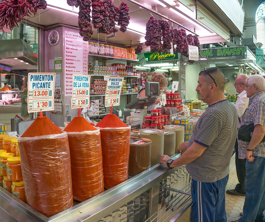 Spanish Paprika in Valencia's market