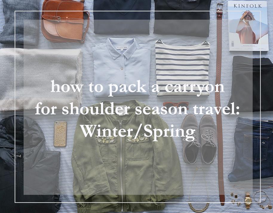 Flatlay of shoulder season travel
