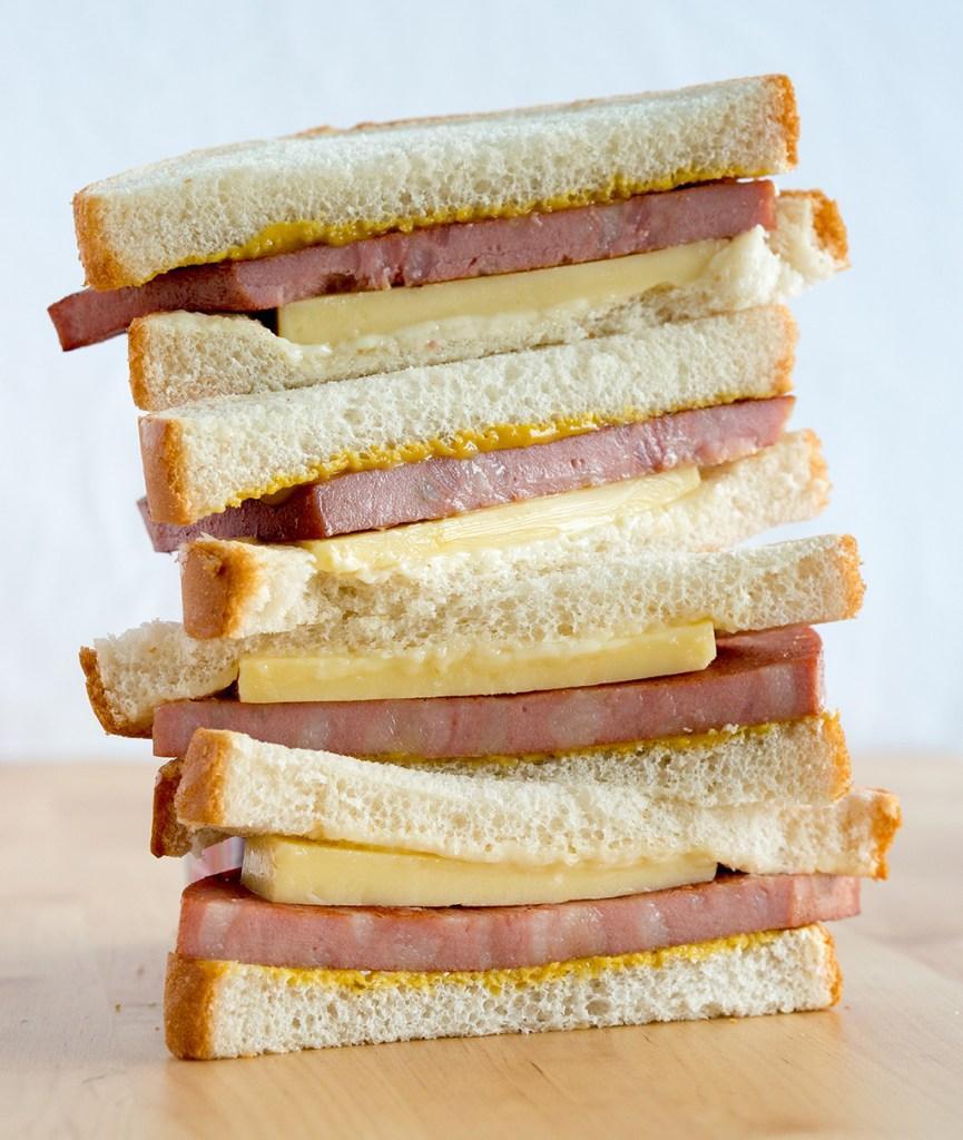 Fried bologna Sandwich stack