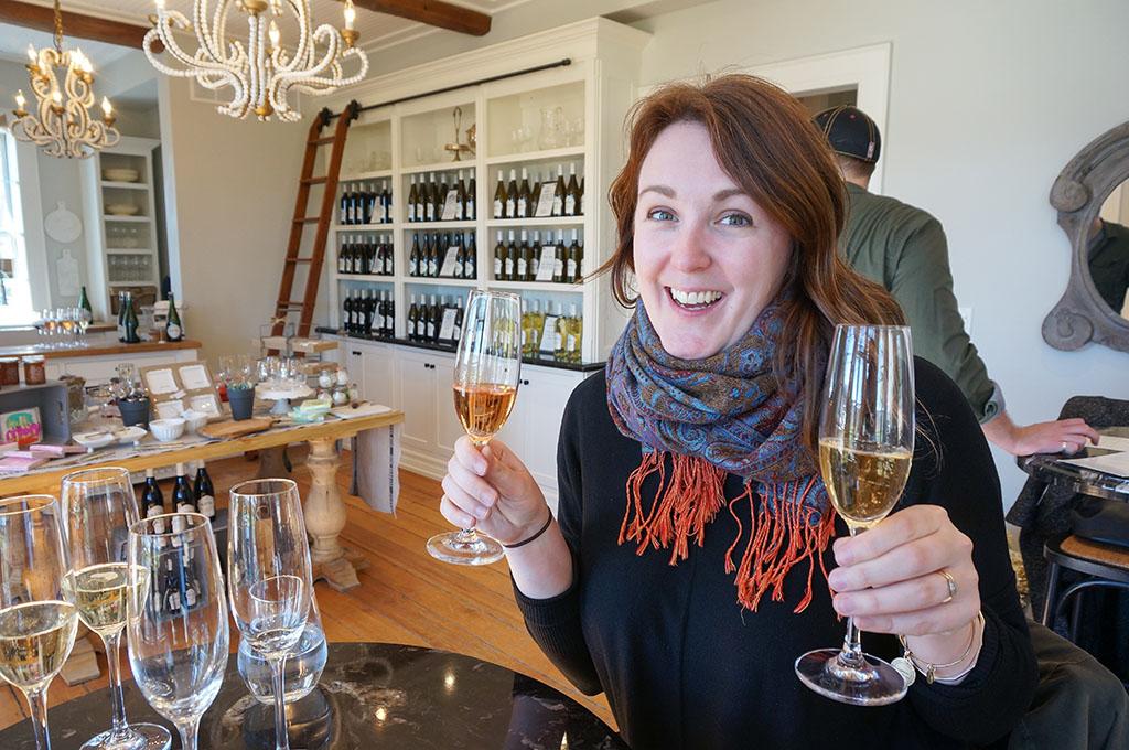 Gabby at Kew vineyards tasting room