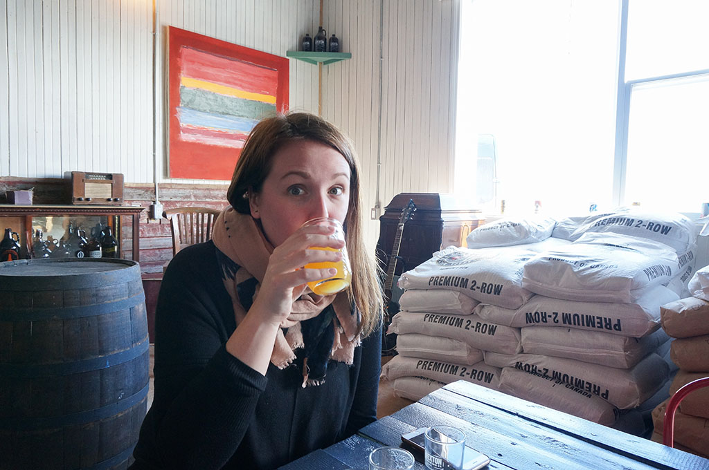 PortRextonBrewery.Gabby in Taproom