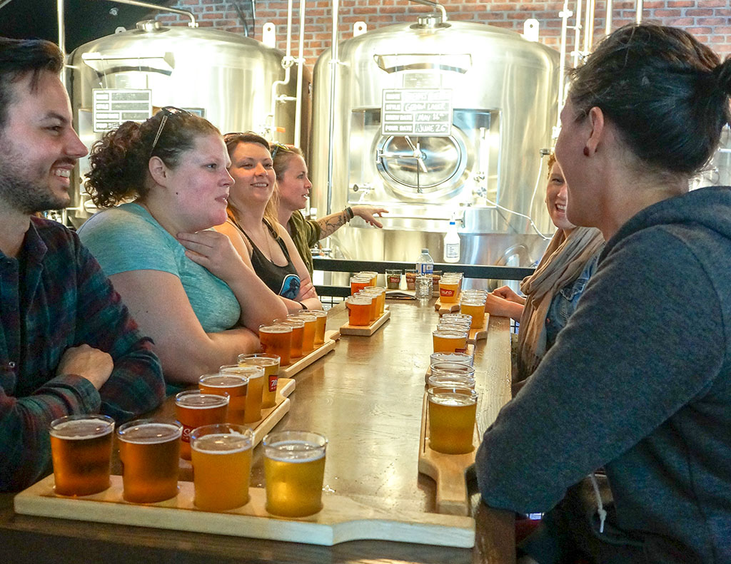 St. John's Beer Tours Brewnettes at Mill Street