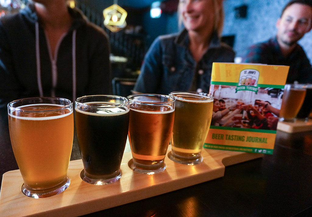 St. John's Beer Tours with beer journal