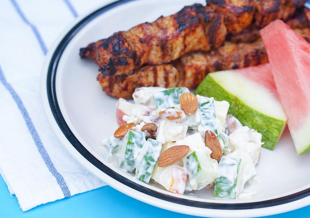 Summer Fresh Salad Plate Closeup