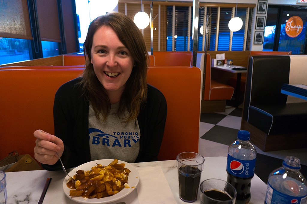 Eating Le Roy Jucep Poutine Picture Gabby Peyton