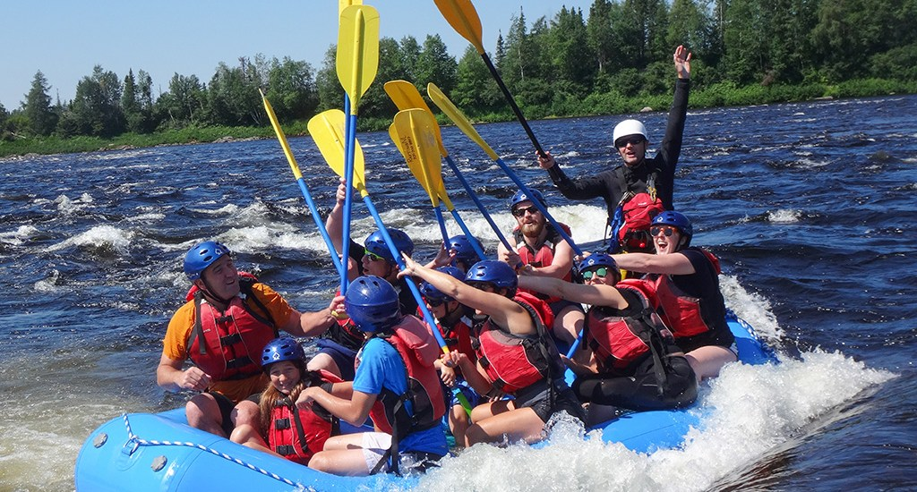 Paddling with Rafting Newfoundland on the Exploits River