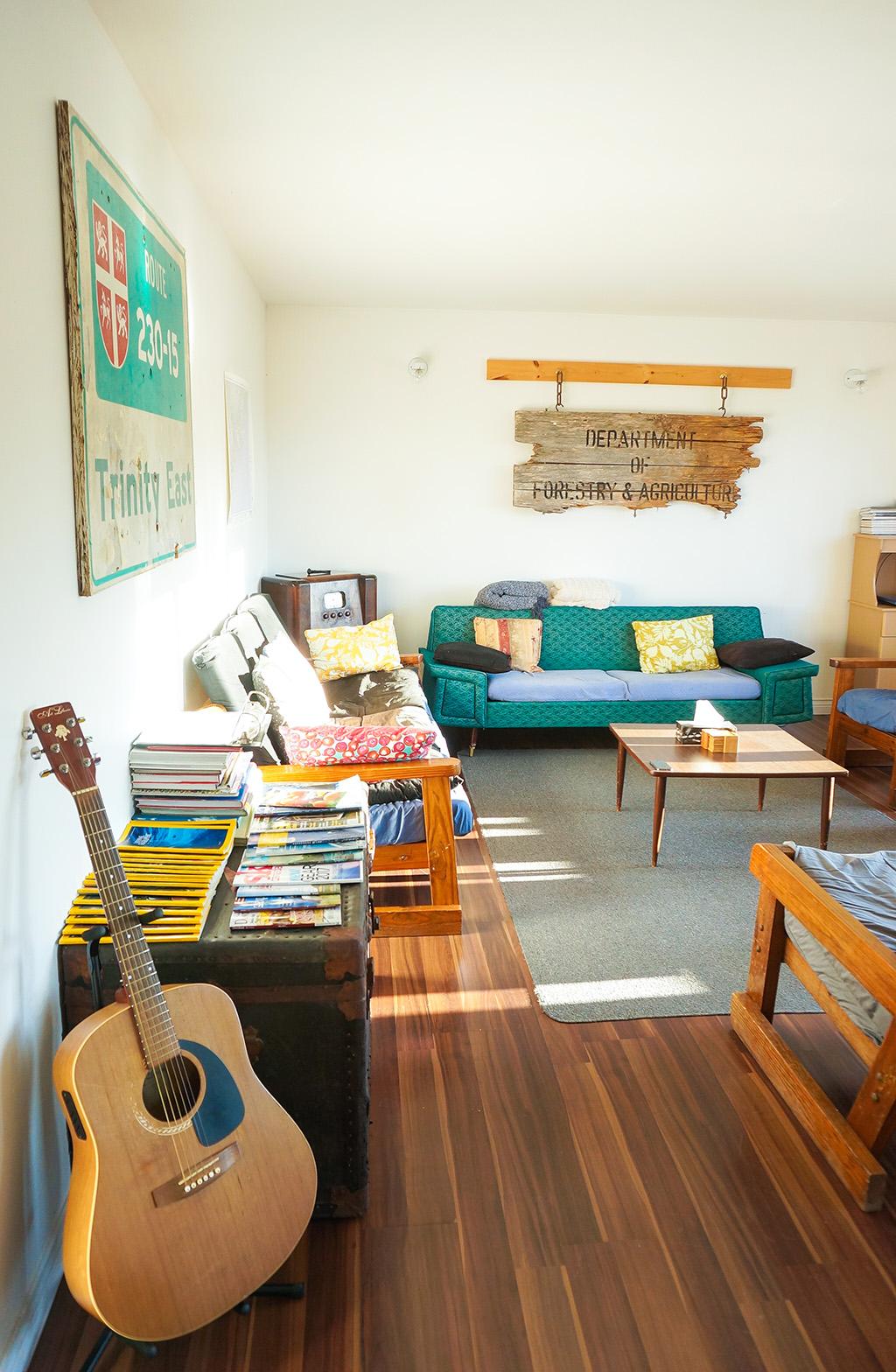 The Food Girl in Town.Skerwink Hostel.Living Room 1
