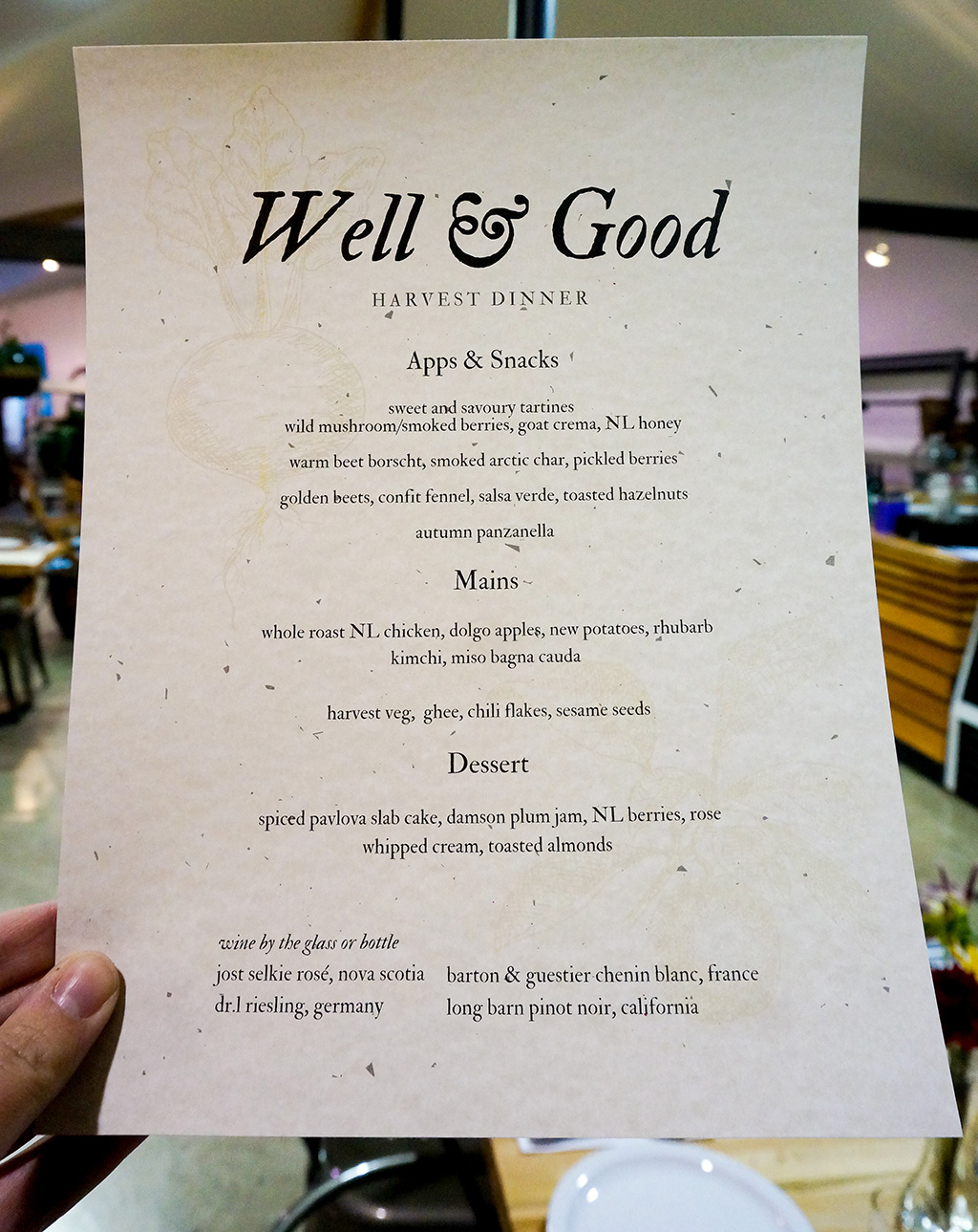 Well and Good Dinners.Menu.TheFoodGirlinTown