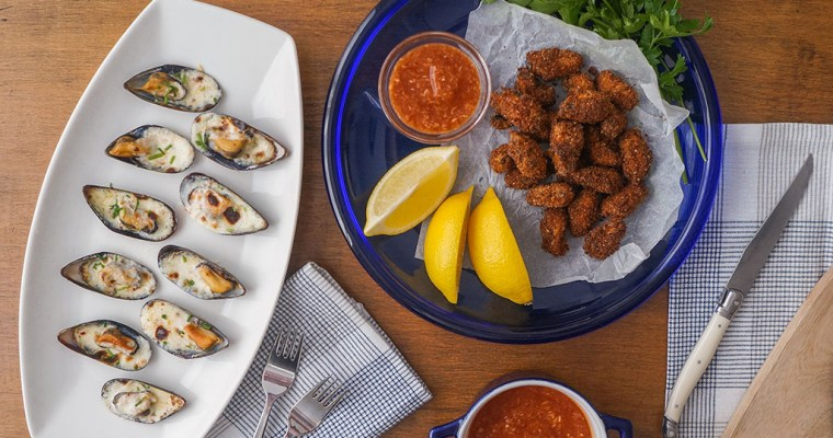 The Great Shellfish Cookbook Review + Game Day Fried Mussels Recipe