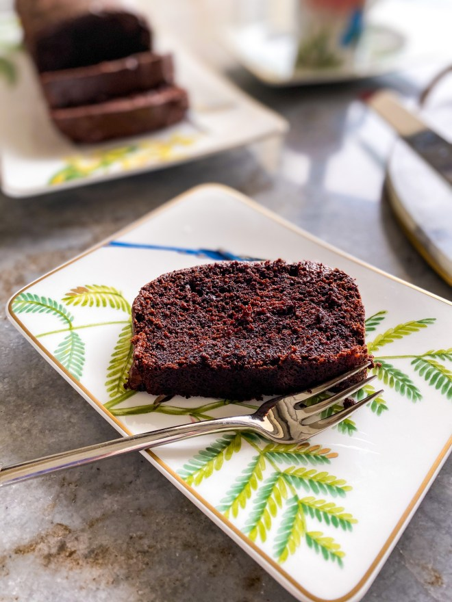 ultimate dark chocolate loaf cake