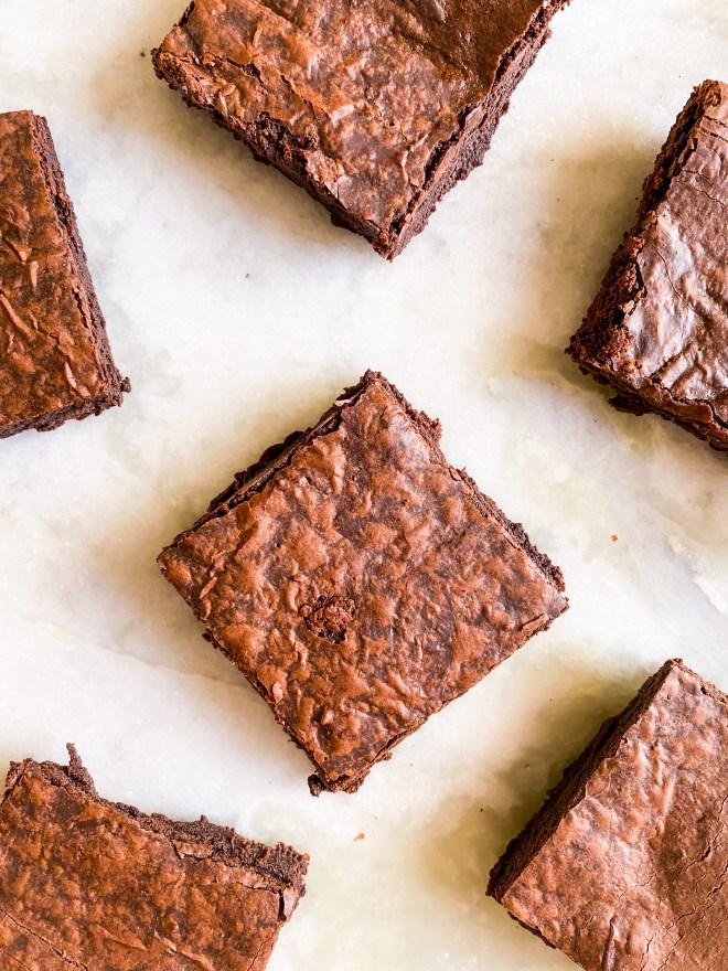 eggless crinkle brownies