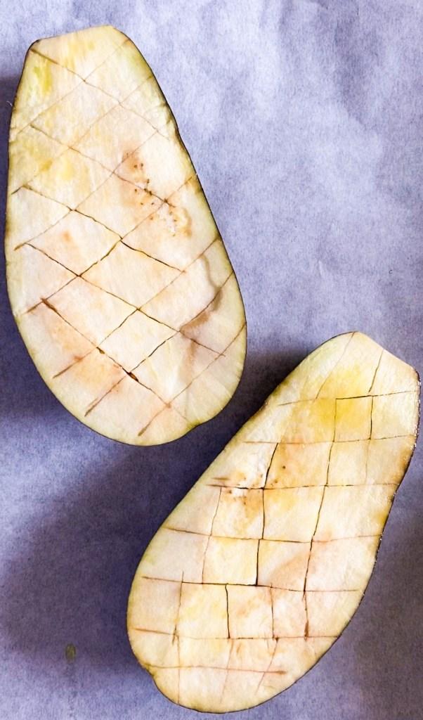 vegan miso aubergine recipe