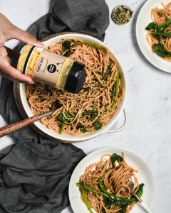 vegan-friendly miso pasta