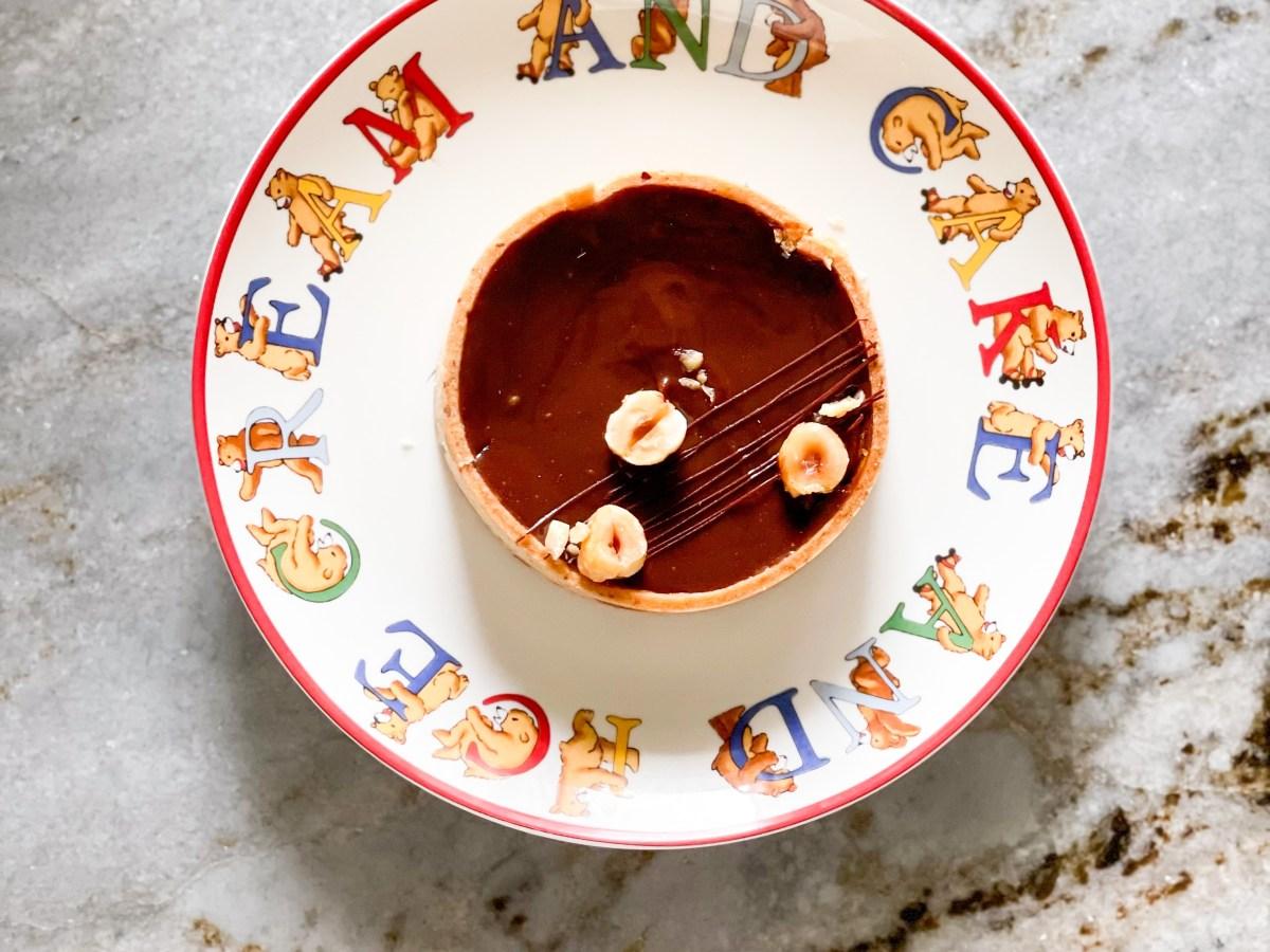 hazelnut chocolate ganache tart