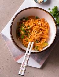 vegan thai red curry noodles