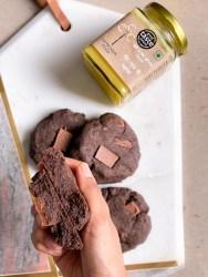 healthy chocolate buckwheat cookies