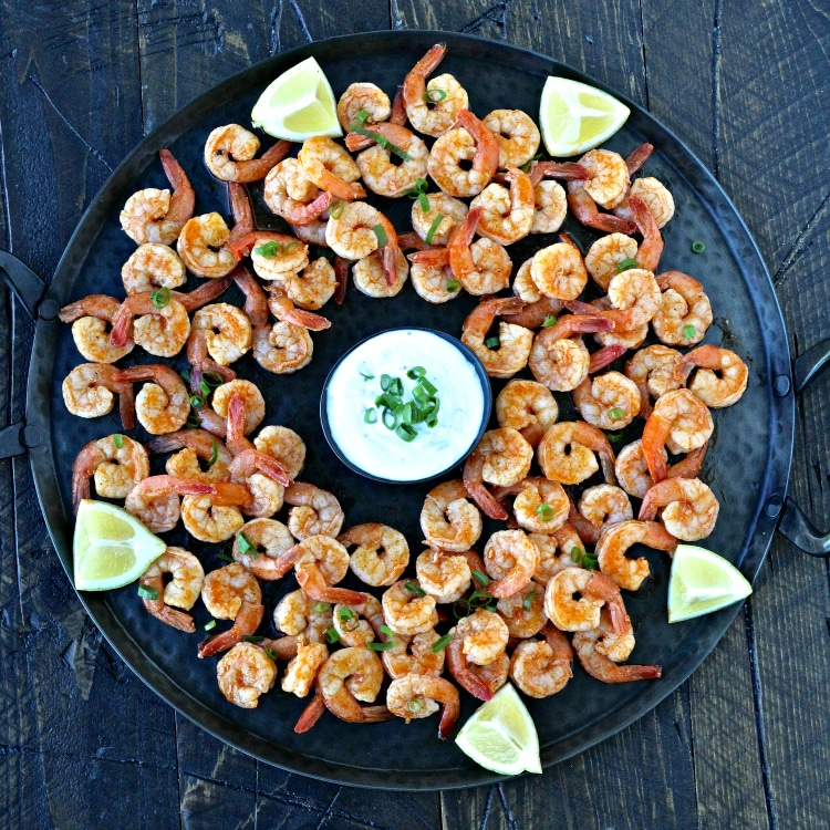 Super Bowl Snacks- Grilled Buffalo Shrimp | @foodiephysician