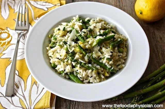 Lemon Risotto with Spring Vegetables | @foodiephysician