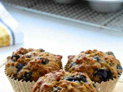 Dining with the Doc: Rise and Shine Blueberry Oatmeal Muffins
