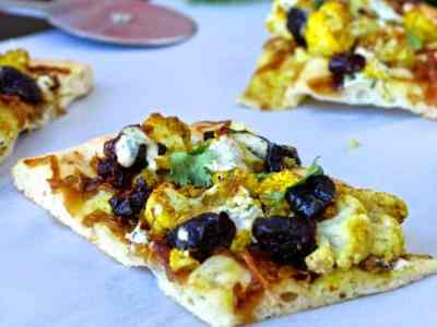 Dining with the Doc: Spiced Cauliflower, Dried Plum and Caramelized Onion Flatbread
