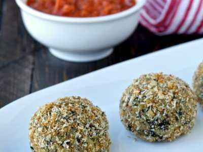 Recipe Resuscitation: Baked Spinach and Cheese Rice Balls (Arancini)