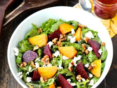 Dining with the Doc: Roasted Beet and Arugula Salad with Orange Beet Vinaigrette