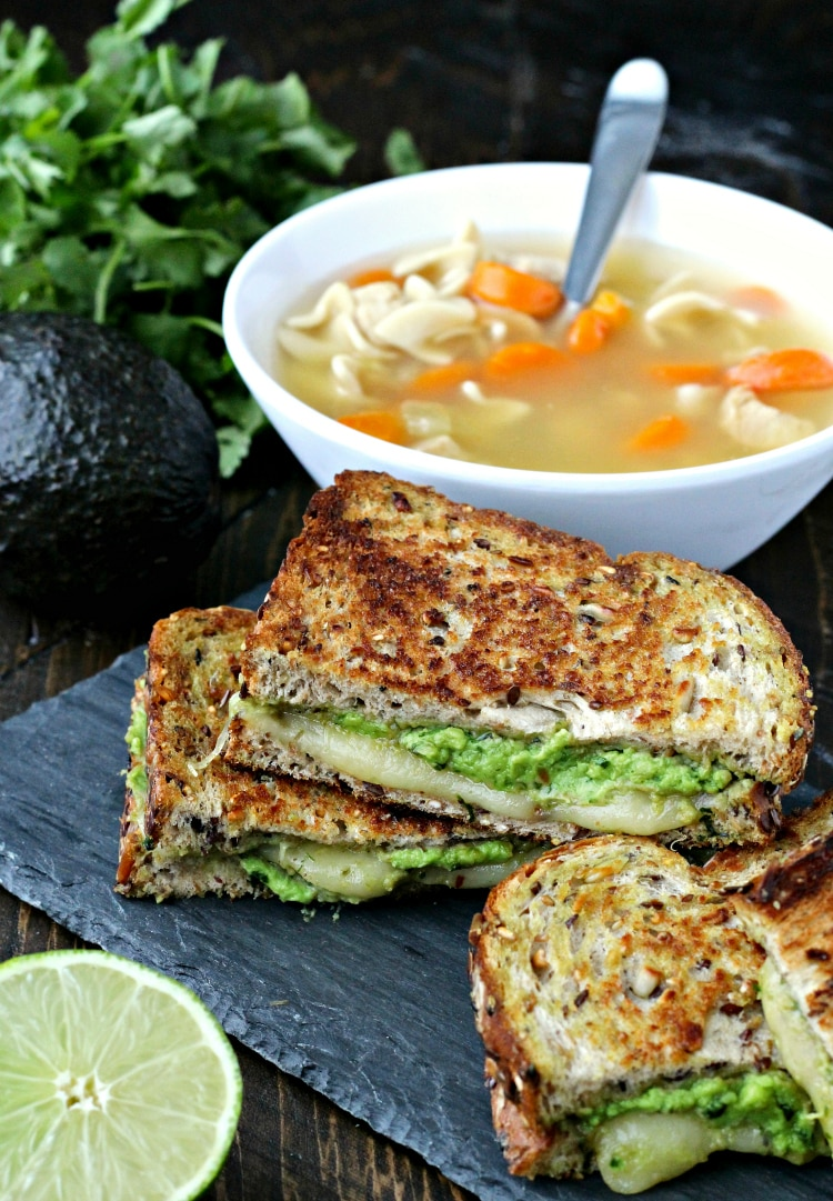 Grilled Cheese with Avocado Pesto | @foodiephysician