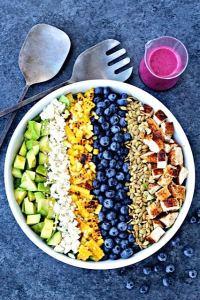 Southwest Blueberry Cobb Salad | @foodiephysician