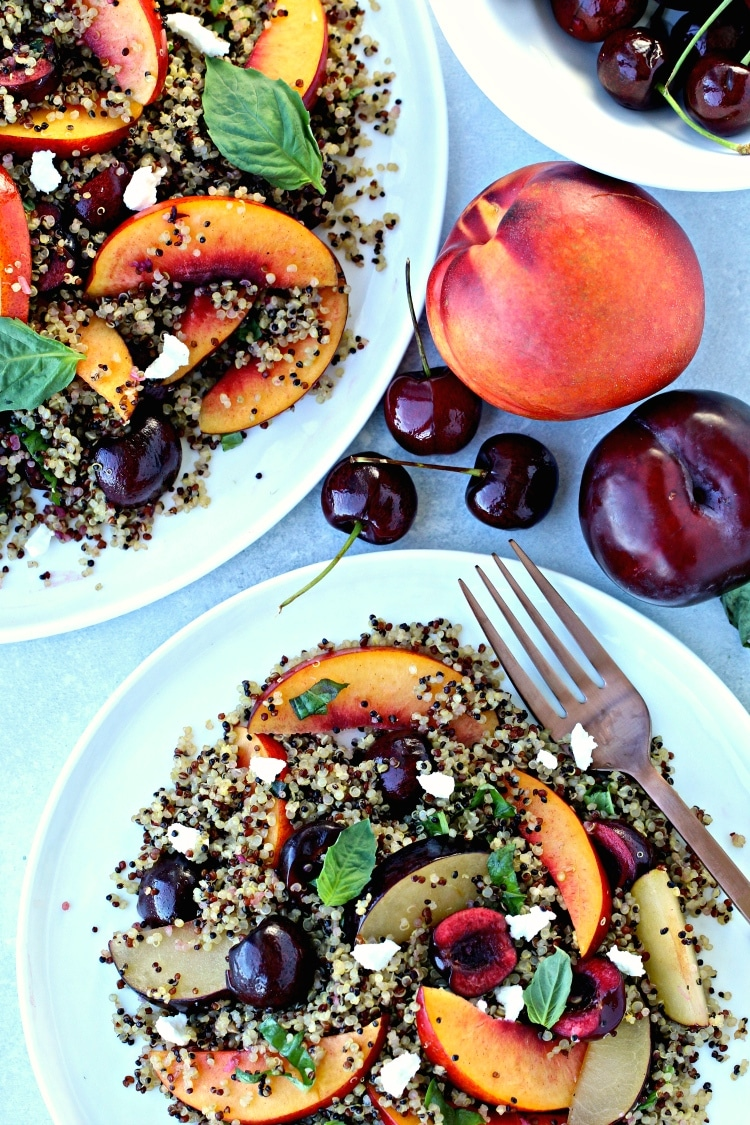 Quinoa Salad with Stone Fruit | @foodiephysician