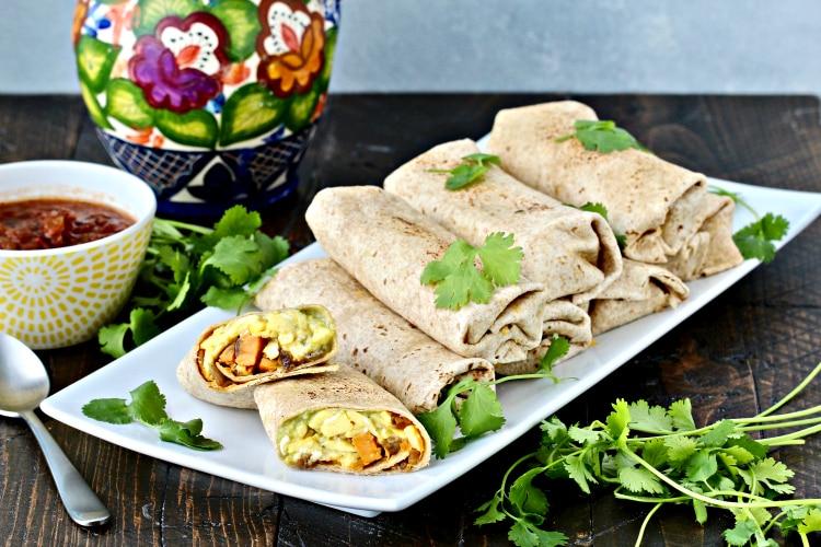 Ultimate Breakfast Burritos with Sweet Potato Hash