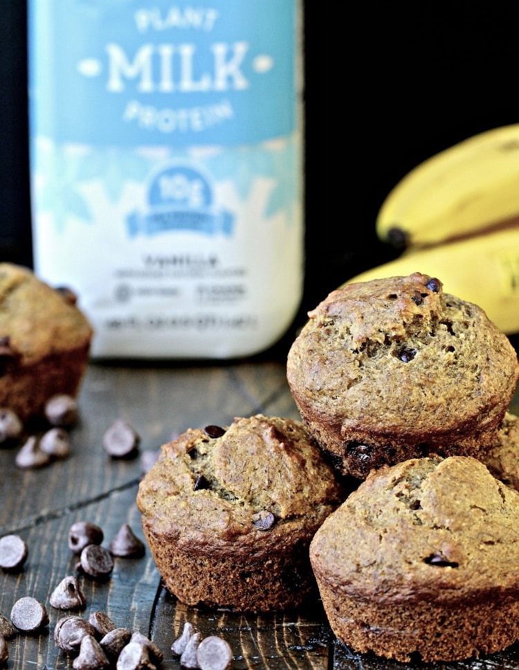Banana Chocolate Chip Muffins | The Foodie Physician