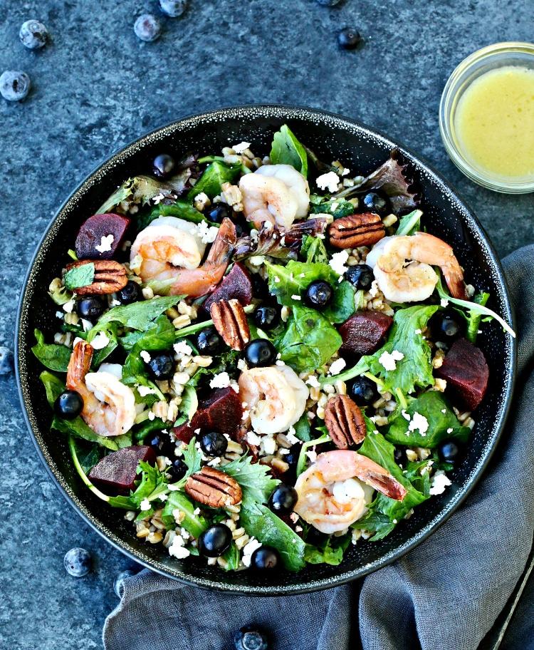 Blueberry Farro Salad