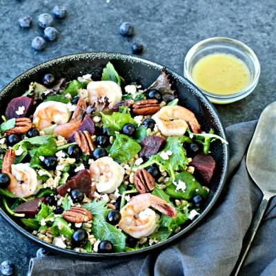 Blueberry Farro Salad