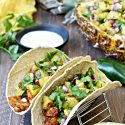 Tropical Fish Tacos with Grilled Pineapple Salsa