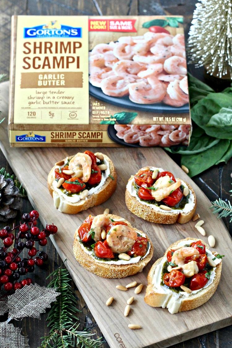 Garlic Shrimp Bruschetta