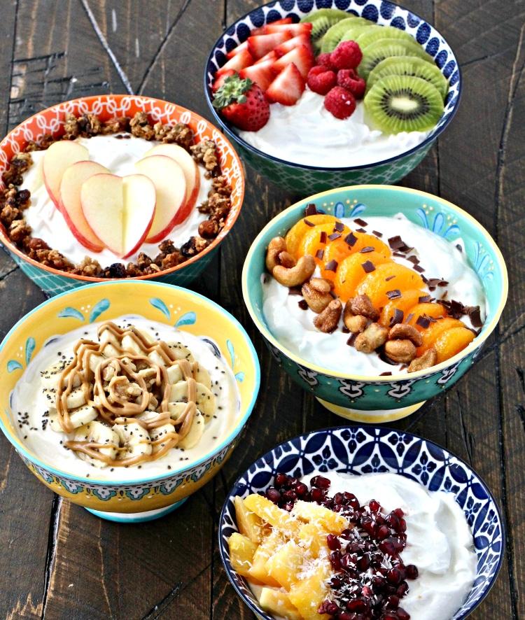 Healthy Greek Yogurt Bowls