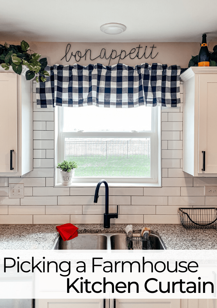 Picking A Farmhouse Kitchen Window Valance The Foodie S Fit Home