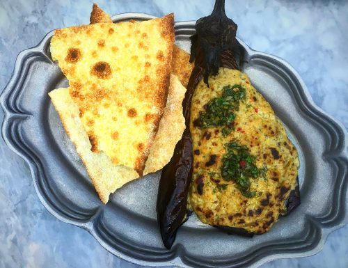 Herb and Wood Grilled Eggplant
