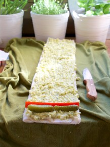 egg rolls sandwich christmas