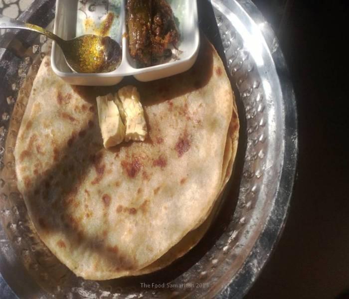 Aloo Parantha(spiced Potato stuffed Flatbread)