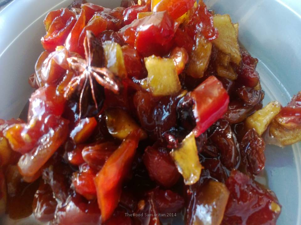 Tomato-Raisin-Apple Chutney