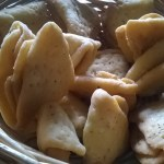 Nimki(Spiced and crisp pastry triangles)