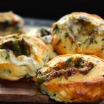 Stuffed Cheese and Herb Bread Pinwheels