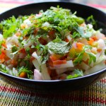 Kachumbar (Indian Salad of raw,mixed,seasoned crispy vegetables)