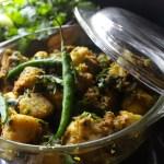 Arbi Masala (Colocasia/Eddos sautéed in various spices)