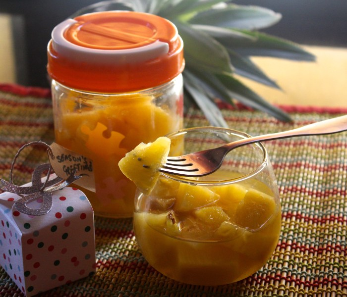 Preserved Pineapple (a delicious way of Preserving Pineapple at home for the festive season!)