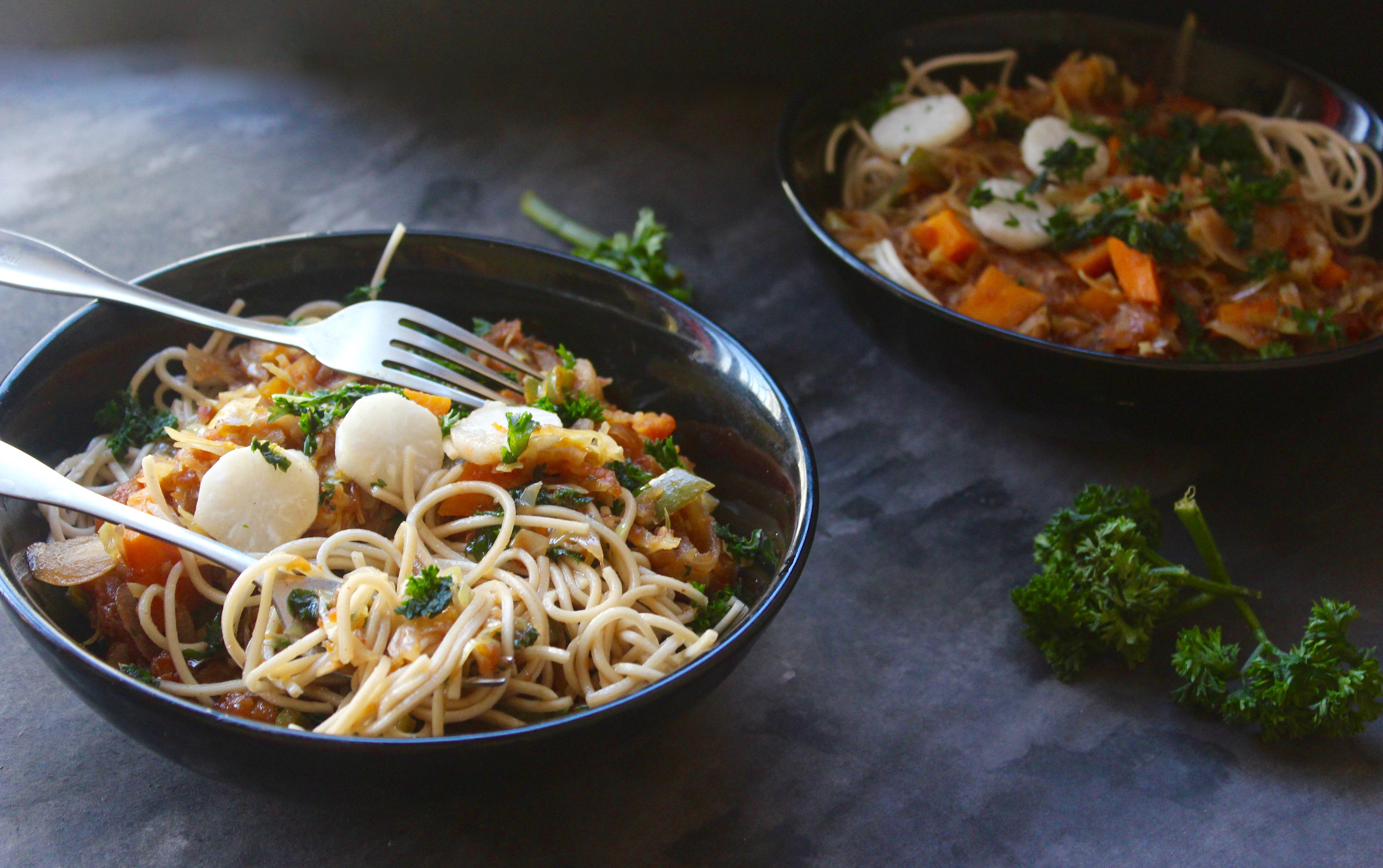 Thukpa (an Indian North Eastern/Tibetan/Burmese Noodle Soup)