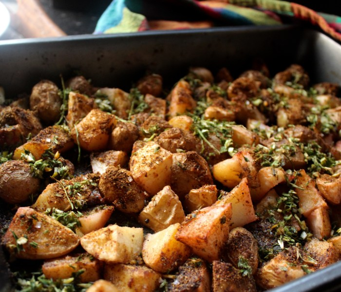 Roasted Potatoes with Garlic Chives