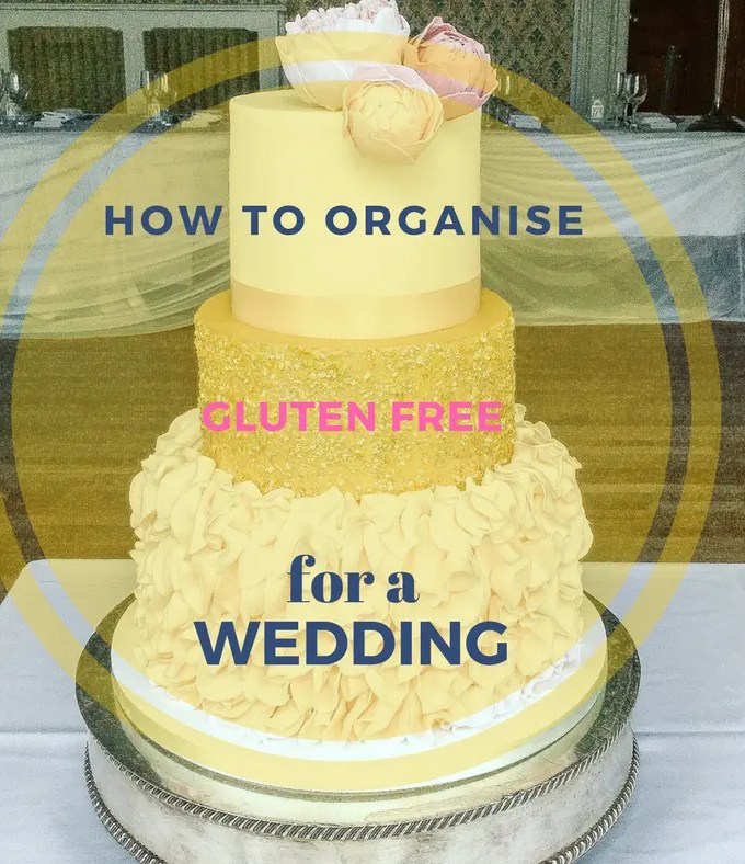wedding cake with title across